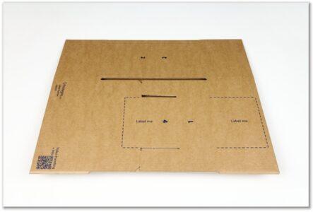 Label-Karton: flachliegend doppelt