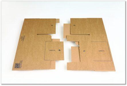 Label-Karton: flachliegend getrennt