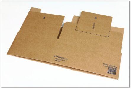 Label-Karton: flachliegend einzeln